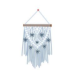 Macrame icon ornate elegant handmade object vector