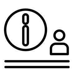 Man and airport information sign line icon vector