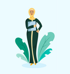 Muslim business woman vector