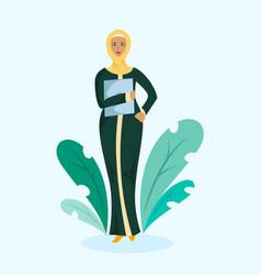 Muslim business woman vector