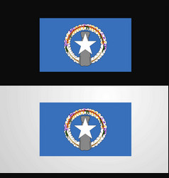 Northern mariana islands flag banner design vector