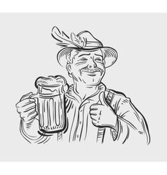 Oktoberfest design template beer ale vector