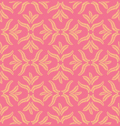 oriental flower pattern abstract floral ornament vector image
