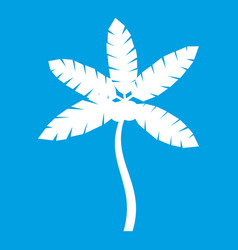Palm tree with coconuts icon white vector