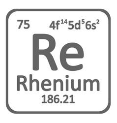 periodic table element rhenium icon vector image