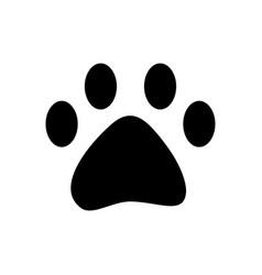 pet paw print walk animal silhouette vector image