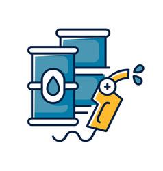 Petroleum rgb color icon vector