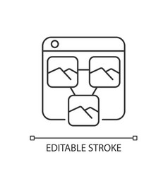 photo sharing platforms linear icon vector image