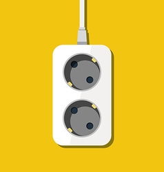 power outlet icon in minimal style vector image