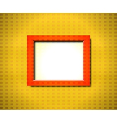Red rectangular frame vector image