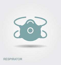 respiratory protection mask vector image