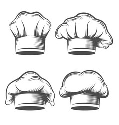 retro chef hat vector image