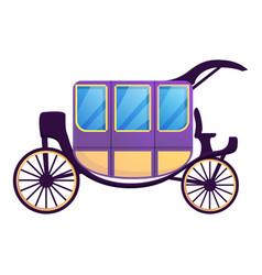 Romantic carriage icon cartoon style vector
