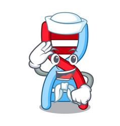 Sailor dna molecule character cartoon vector
