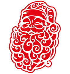 Santa claus stylized vector