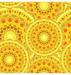 Seamless mandala sun yelow vector