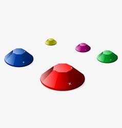 Set of colored diamonds vector image