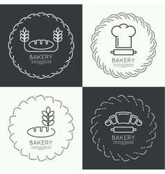 Set of round frames and banners vector image