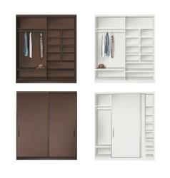 Set Of Wardrobes vector image