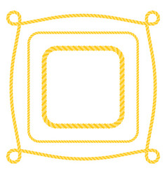 set square frame rope vector image