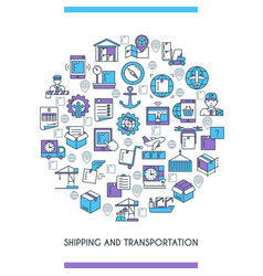 shipping and transportation concept vector image