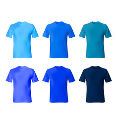 Shirt design template set men t shirt navy blue vector