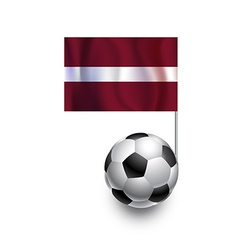 Soccer Balls or Footballs with flag of Latvia vector