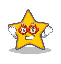 Super hero star character cartoon style vector