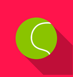 Tennis ball icon in flat style for web vector