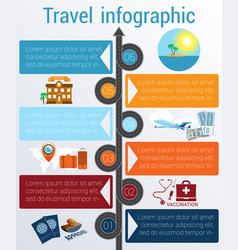 travel infographic template 6 positions vector image