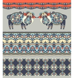 Ukrainian traditional tribal art in karakoko style vector image