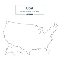 usa map outline border vector image