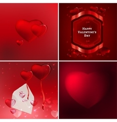 Valentine banners set vector image