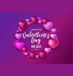 valentines day love and feelings sale background vector image