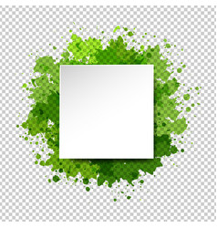 watercolor blot and banner transparent background vector image