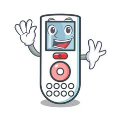 Waving remote control character cartoon vector