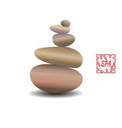 zen stone balance realistic image vector image