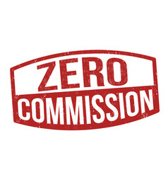 zero commission grunge rubber stamp vector image