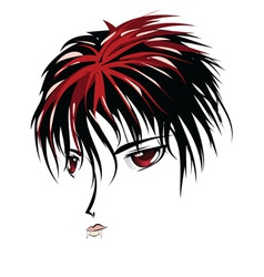 Anime vampire face vector image vector image