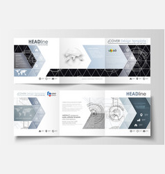 business templates for square tri fold brochures vector image