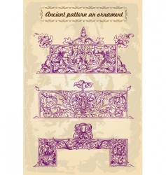 gold ornaments frames ancient set vector image vector image