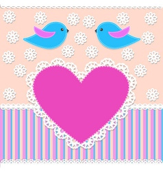 greeting card in scrapbook style vector image
