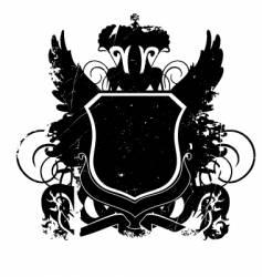 heraldry shield version 01 grunge vector image