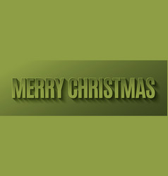 merry christmas banner design background vector image vector image