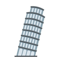 piza tower italy icon vector image