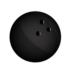 realistic silhouette bowling ball icon sport vector image