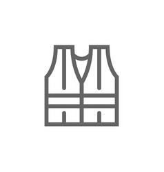 simple safety vest icon symbol and sign vector image