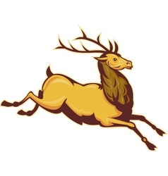 Stag deer or buck jumping vector image vector image