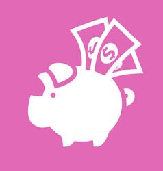 white piggy bank vector image vector image