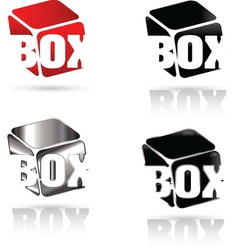 Box 02 resize vector image